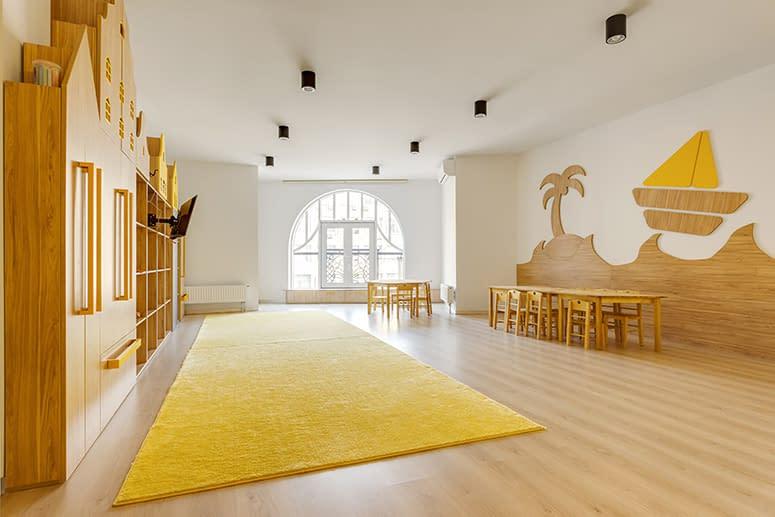 A modern and bright preschool or homeschool room