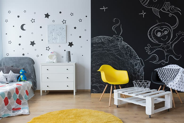 A modern child's room with inspiring homeschool rooms decore